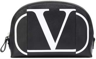 Valentino Garavani VLOGO leather cosmetics case
