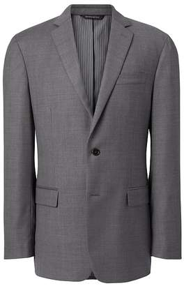 Banana Republic Standard Italian Wool Sharkskin Suit Jacket