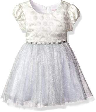 Youngland Toddler Girls' Knit Sparkle Polka Dot Special Occasion Dress