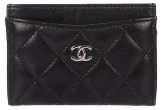 Chanel Quilted O-Card Holder
