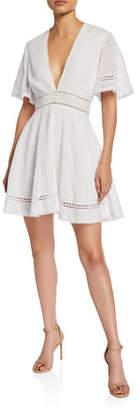 Jonathan Simkhai Eyelet Embroidered Fit-&-Flare Dress