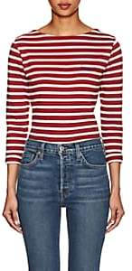 "Maison Labiche Women's ""Bisous"" Striped Cotton T-Shirt"