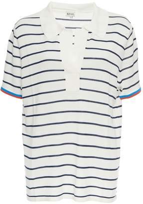 Kule Ollie V Neck Collar Striped Top