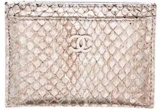 Chanel Python O-Card Holder