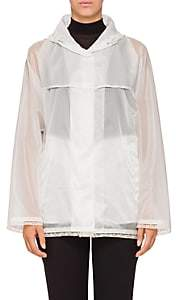 Prada Women's Lace-Trimmed Raincoat - White