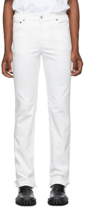 Balenciaga White Fitted 5-Pocket Jeans