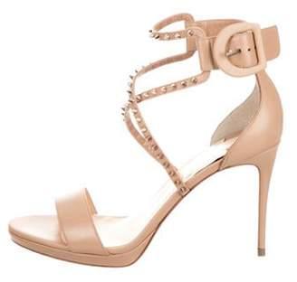 Christian Louboutin Choca Lux Leather Sandal Tan Choca Lux Leather Sandal