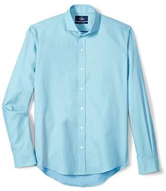 Buttoned Down Men's Slim Fit Cutaway-Collar Supima Cotton Sport Shirt