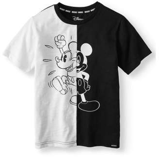 "Mickey Mouse Mickey ""Split Stance"" Short sleeve Licensed Tee (Little Boys & Big Boys)"