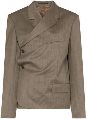 Martine Rose wrap-around side-button blazer