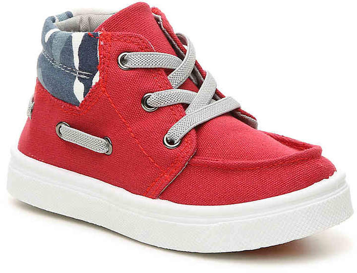 Oomphies Riley Toddler High-Top Slip-On Sneaker - Boy's