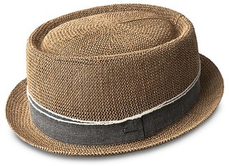 Bailey of Hollywood Runkle Telescope Crown Crochet Straw Hat $80 thestylecure.com