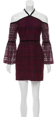 LIKELY Lace-Accented Mini Dress w/ Tags