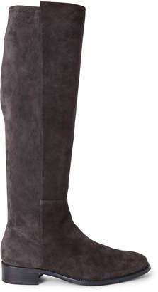 Stuart Weitzman Asphalt Grey Halfway Suede Knee-High Boots