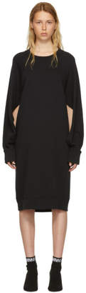 Maison Margiela Black Basic Cotton Sweatshirt Dress