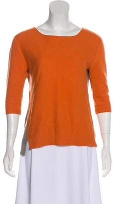 Reed Krakoff Cashmere Three-Quarter Sleeve Top