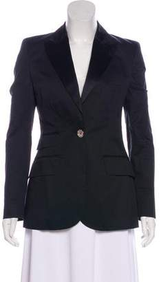 Burberry Peak-Lapel Single-Button Blazer