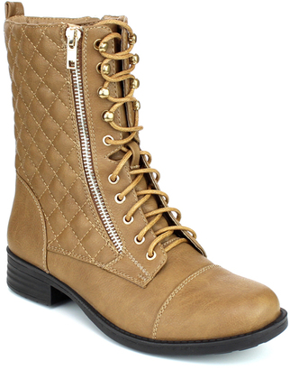 Taupe Quilted Sammy Boot $39 thestylecure.com