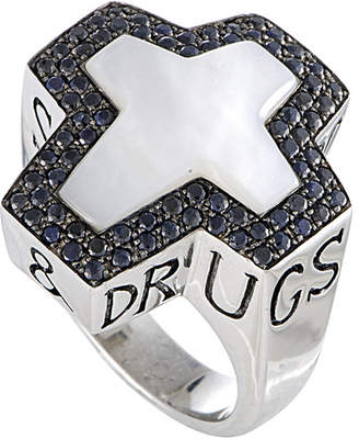 Stephen Webster Silver 1.20 Ct. Tw. Gemstone Ring