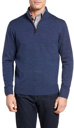 Men's Tailorbyrd Nisqually Quarter Zip Wool Sweater $125 thestylecure.com