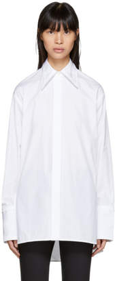 Helmut Lang White Cut-Out Shirt