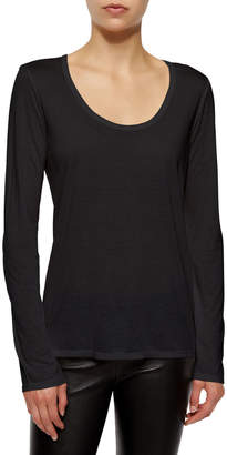 The Row Long-Sleeve Scoop-Neck Tee