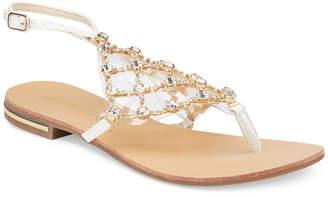 OLIVIA MILLER Crystal Multi Rhinestone Sandals Women Shoes