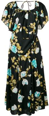 Junya Watanabe layered collar floral dress
