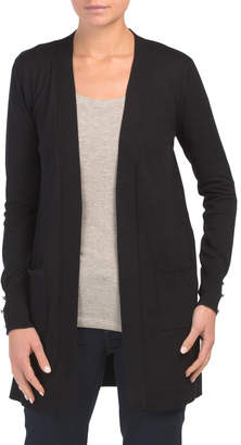 Cardigan With Pockets And Shank Button Detail