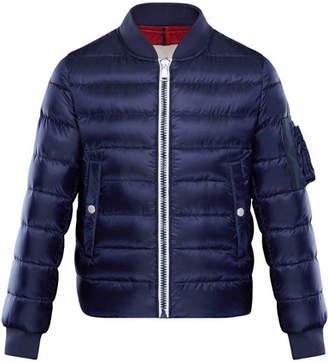 Moncler Aiden Quilted Bomber Jacket, Size 8-14
