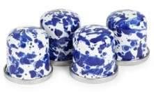 Golden Rabbit Cobalt Swirl Salt and Pepper Shakers/ Set of 4