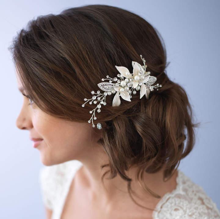 Etsy Pearl Hair Clip, Wedding Hair Clip, Bridal Hair Clip, Rhinestone Hair Comb, Hair Clip for Wedding, S