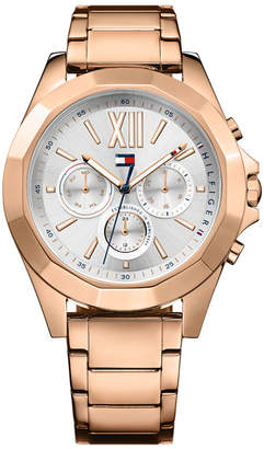 Tommy Hilfiger Women's Rose Gold-Tone Stainless Steel Bracelet Watch 40mm