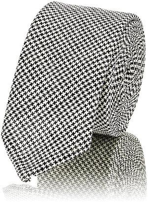 Thom Browne Men's Micro-Houndstooth Necktie $195 thestylecure.com