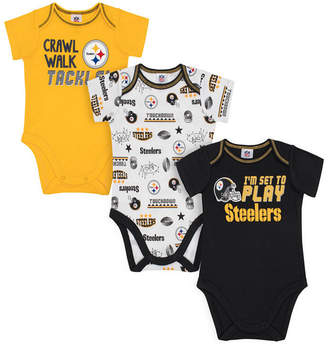 Gerber Pittsburgh Steelers 3 Pack Creeper Set, Infants (0-9 Months)