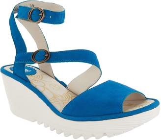 Fly London Leather Multi-Strap Wedge Sandals - Yisk