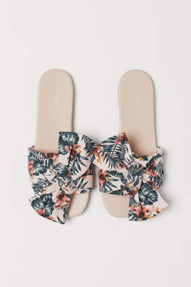 H&M Slides with Bow