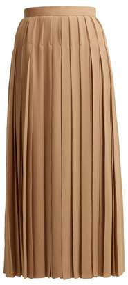 The Row Vanessa High Rise Silk Crepe Midi Skirt - Womens - Nude