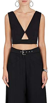 Derek Lam Women's Cutout Cotton-Blend Crop Top - Black