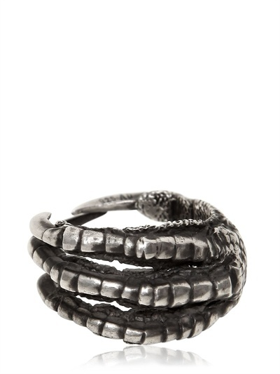 Ann Demeulemeester Pigeon Claw Silver Ring