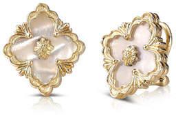 Buccellati Opera 18k Gold Button Earrings in Mother-of-Pearl