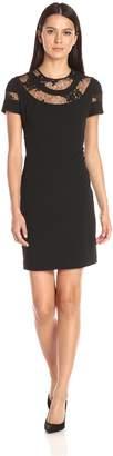 Donna Morgan Women's Short Sleeve A-Line Dress