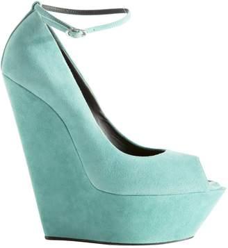 Giuseppe Zanotti Turquoise Suede High heel