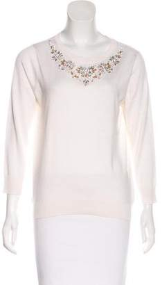 Magaschoni Embellished Silk Sweater w/ Tags