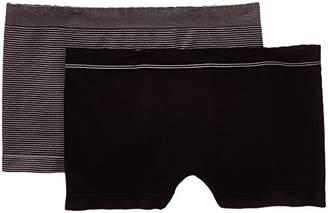 Billet Doux Women's Striped Brief - Black - Noir/Noir/Gris - 8 (Brand size: 34/36)