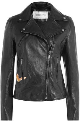 Valentino Leather Jacket with Stud Embellishment
