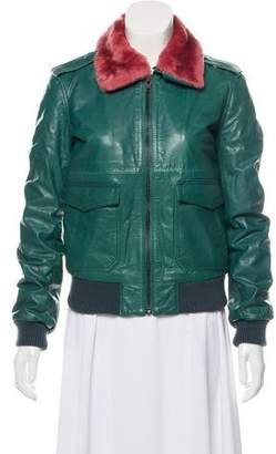 BLK DNM Zip-Up Leather Jacket