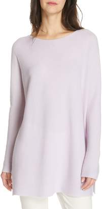 Eileen Fisher Bateau Neck Cashmere Tunic Sweater