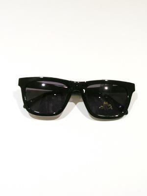 KAREN WALKER black classic square sunglasses