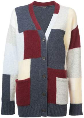 ADAM by Adam Lippes colour-block fitted cardigan